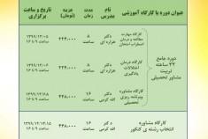 دوره های مجازی آنلاین در حیطه شغلی- تحصیلی و تربیتی در اسفند ماه ۱۳۹۹